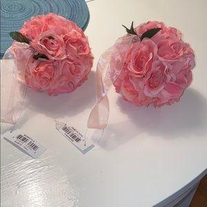 Pink flower ball minis
